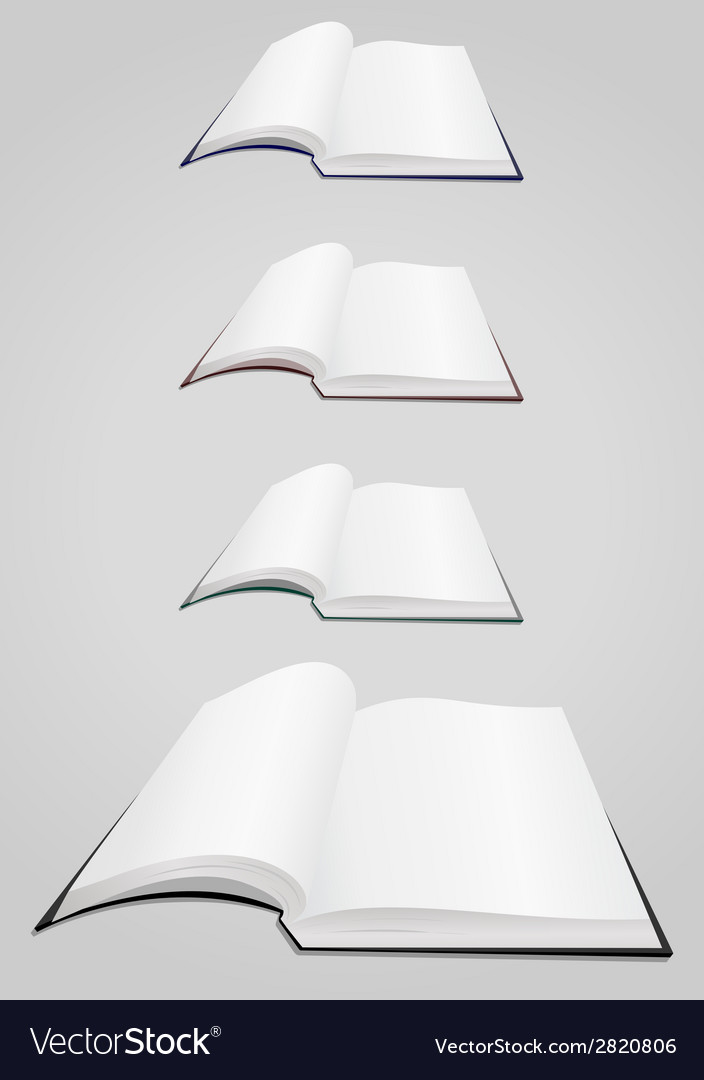 Open books collection vector | Price: 1 Credit (USD $1)