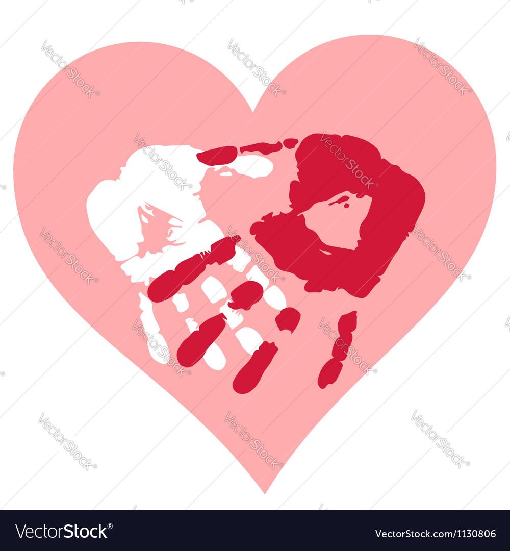 Romantic valentine postcard vector | Price: 1 Credit (USD $1)