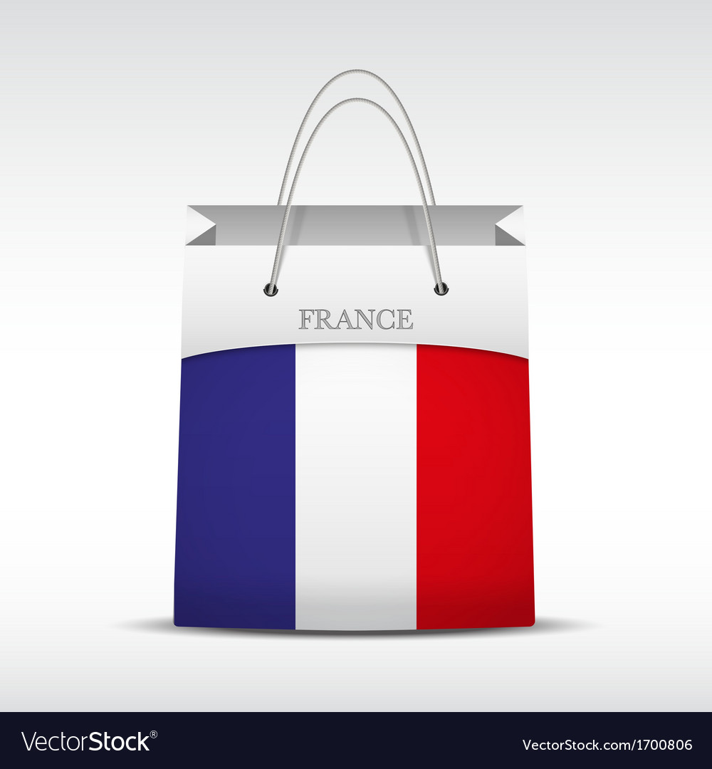 Shopping bag with france flag vector | Price: 1 Credit (USD $1)