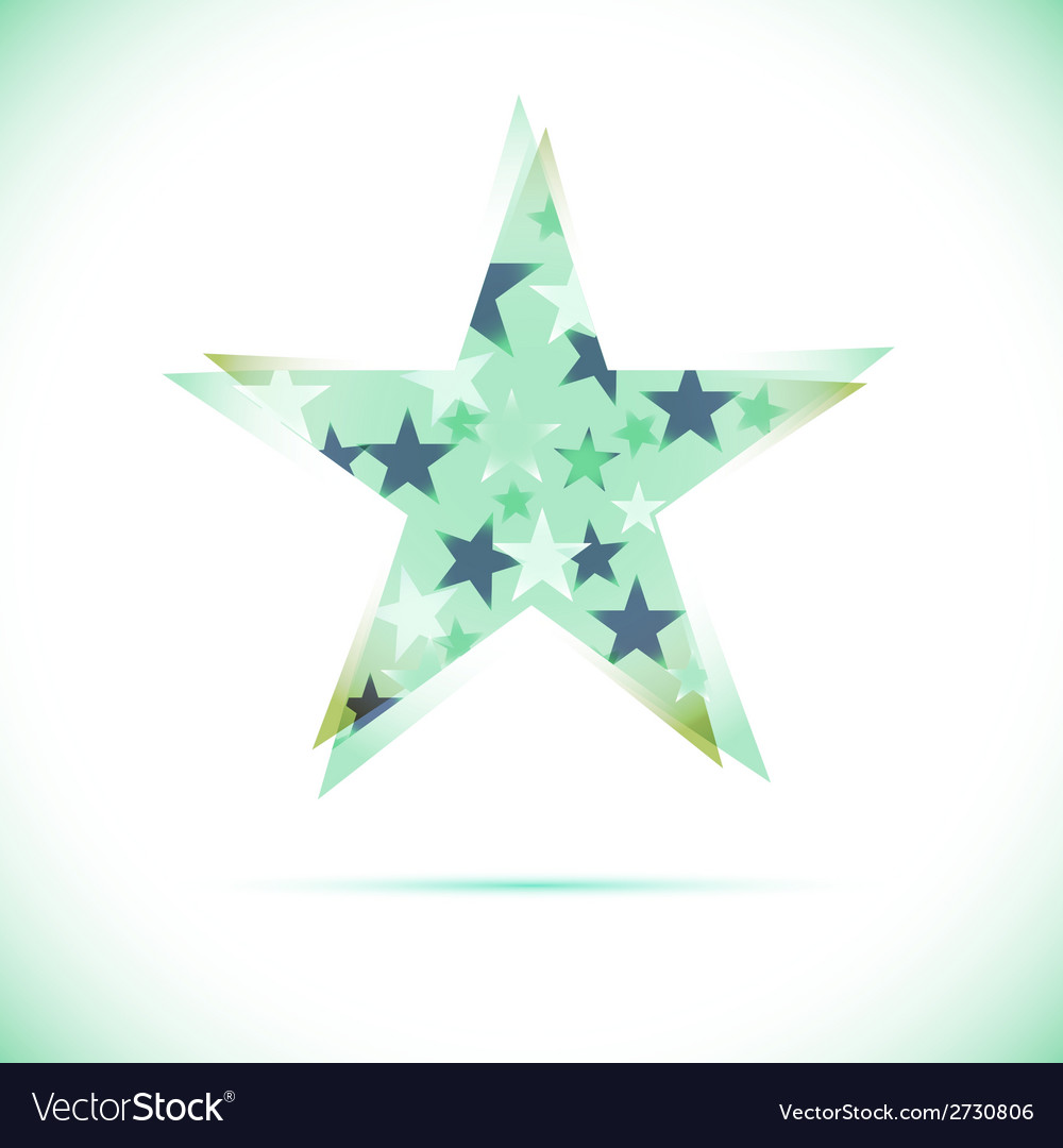 Sphere abstract design template star vector | Price: 1 Credit (USD $1)