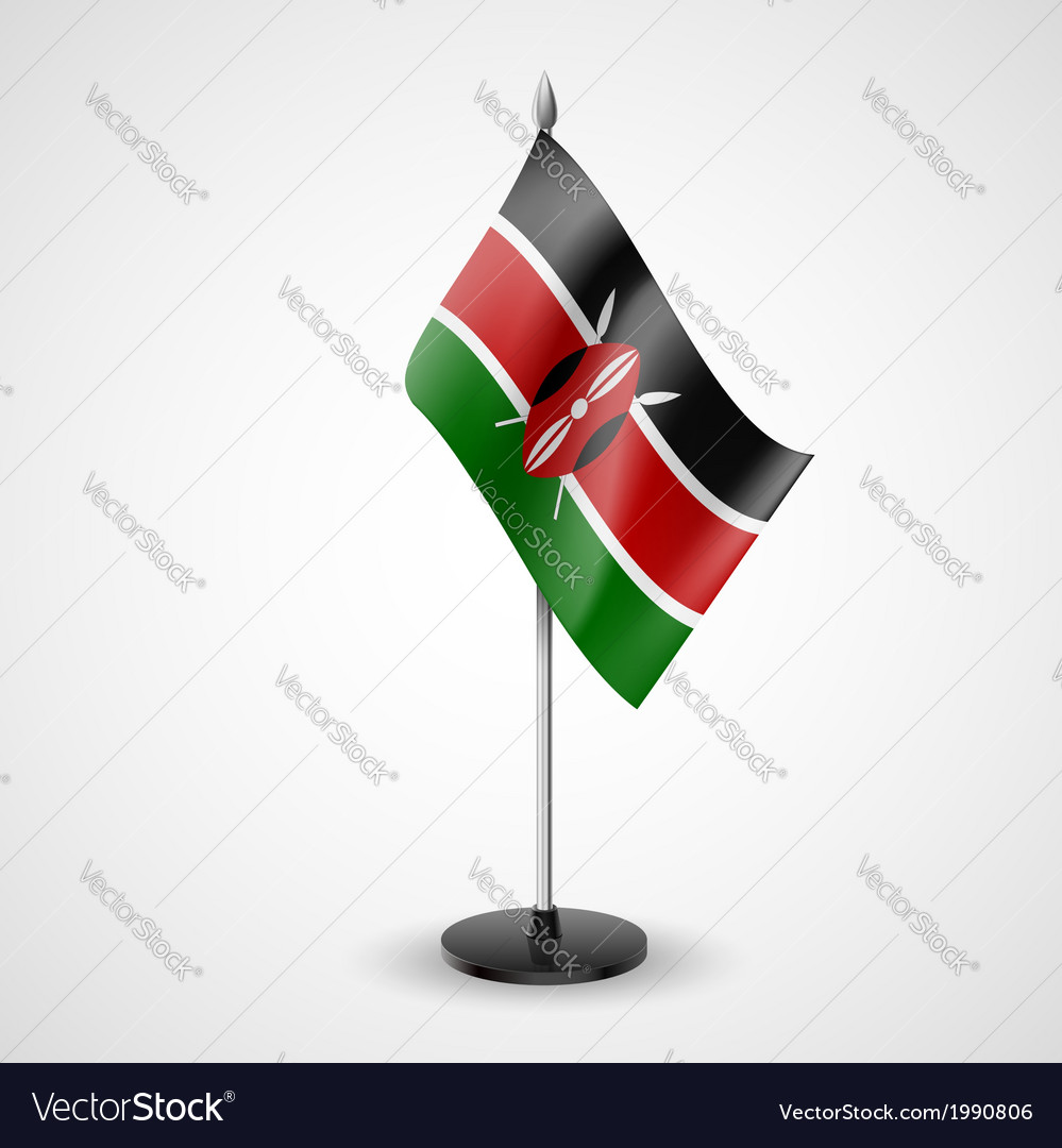 Table flag of kenya vector | Price: 1 Credit (USD $1)