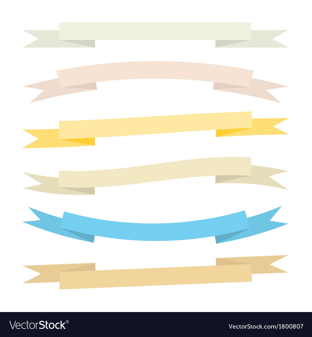 A set of vintage ribbons vector | Price: 1 Credit (USD $1)