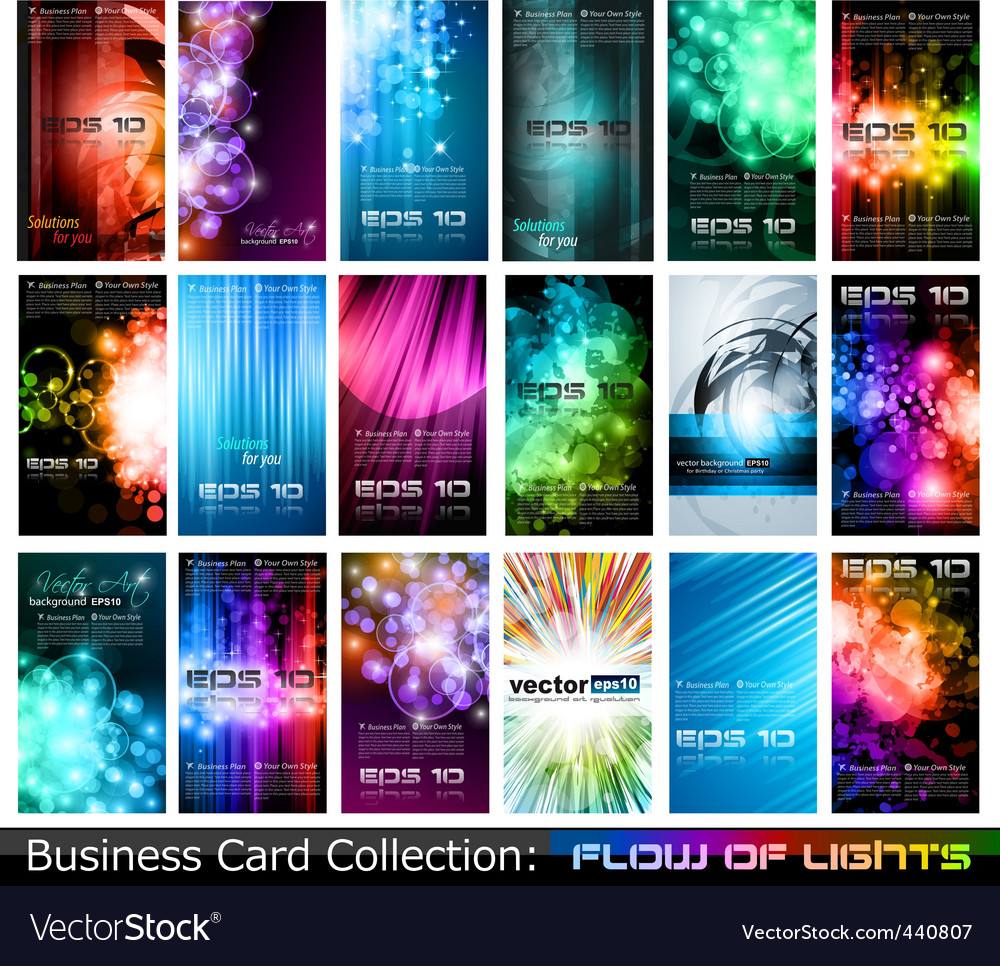 Business card glow backgrounds vector | Price: 3 Credit (USD $3)