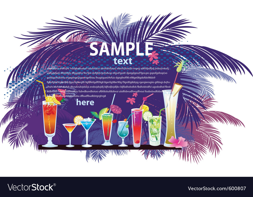 Cocktail vector | Price: 3 Credit (USD $3)