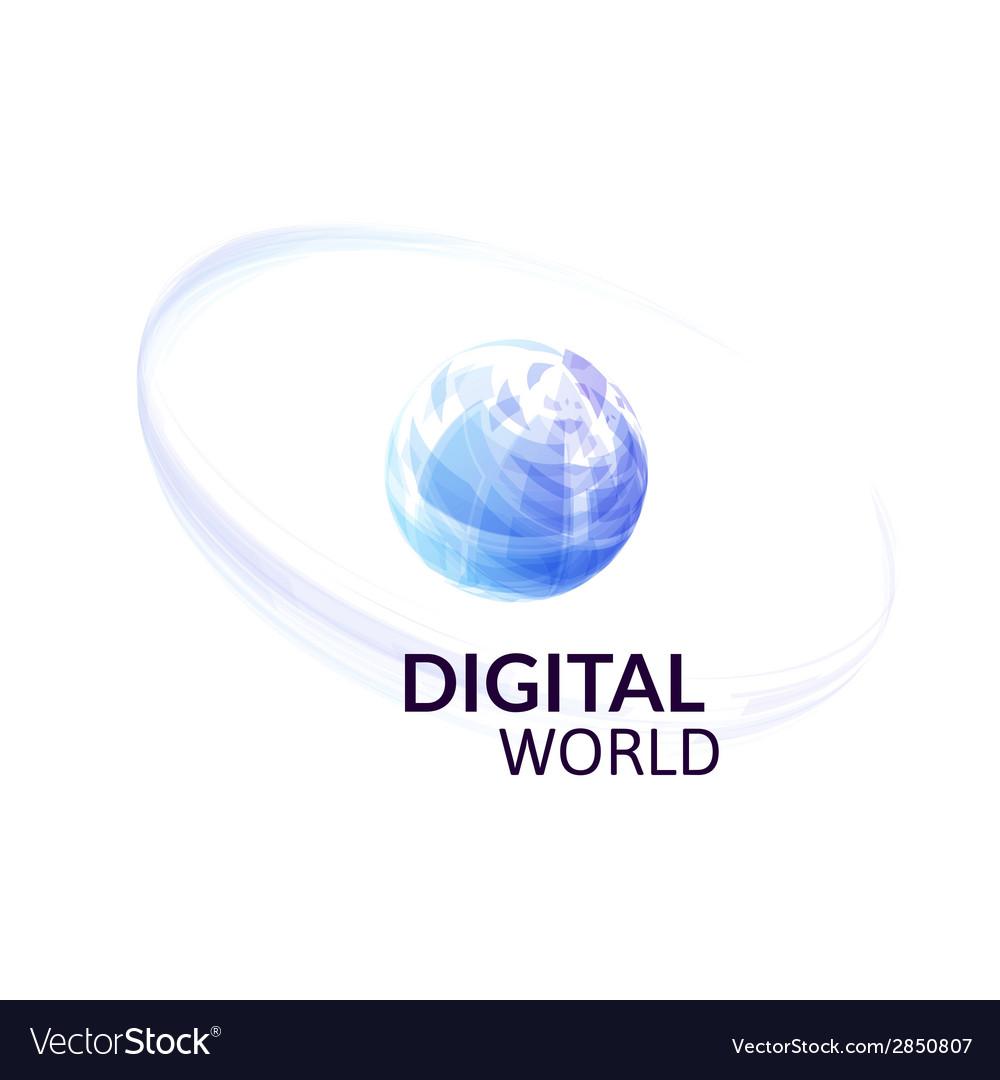 Digital earth concept symbol vector | Price: 1 Credit (USD $1)