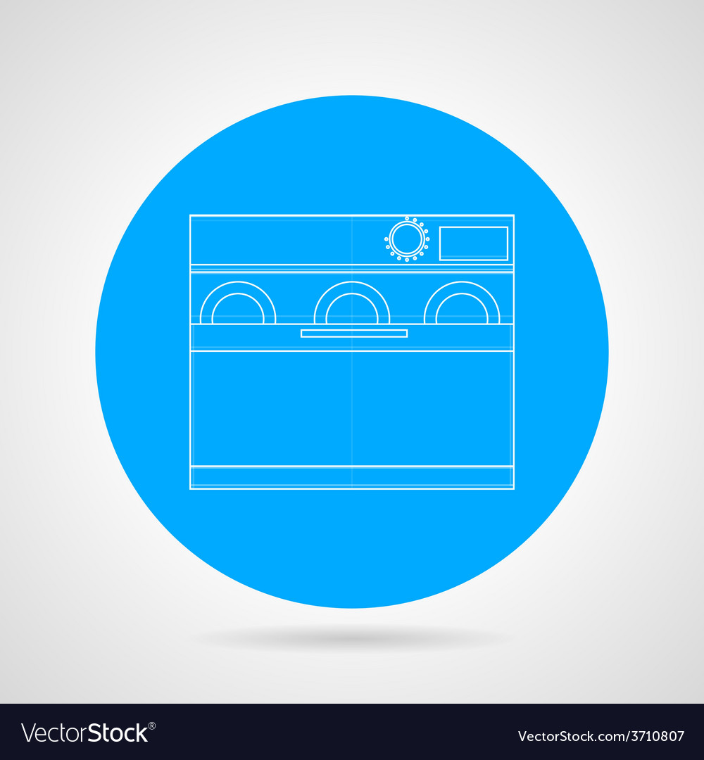 Dishwasher machine flat line icon vector | Price: 1 Credit (USD $1)
