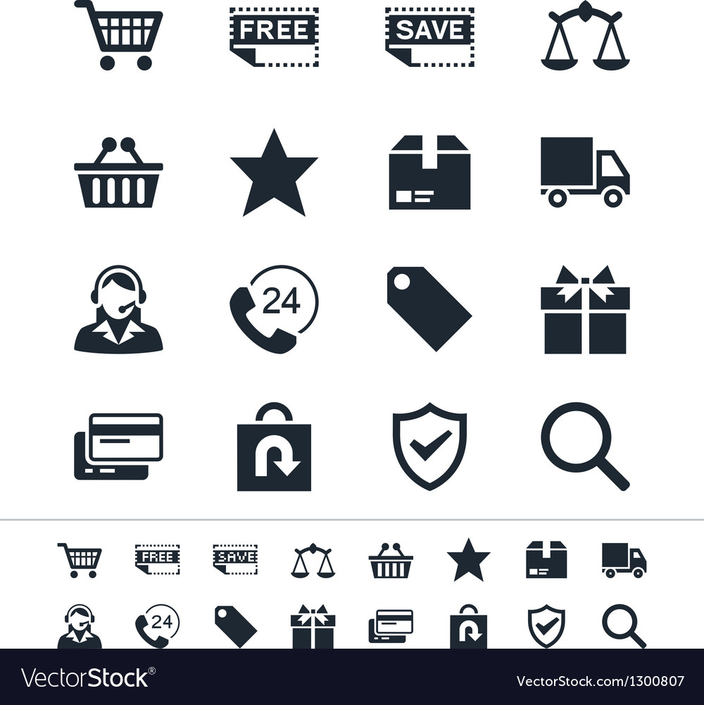 E-commerce icons vector | Price: 1 Credit (USD $1)