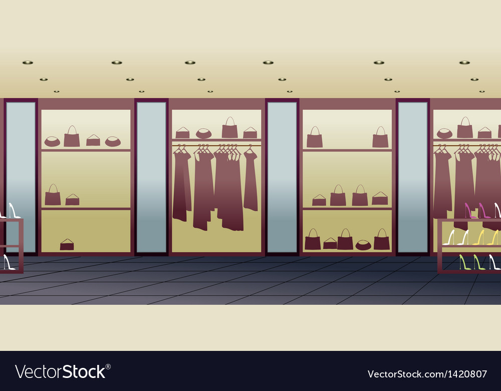 Fashion shop interior vector | Price: 1 Credit (USD $1)
