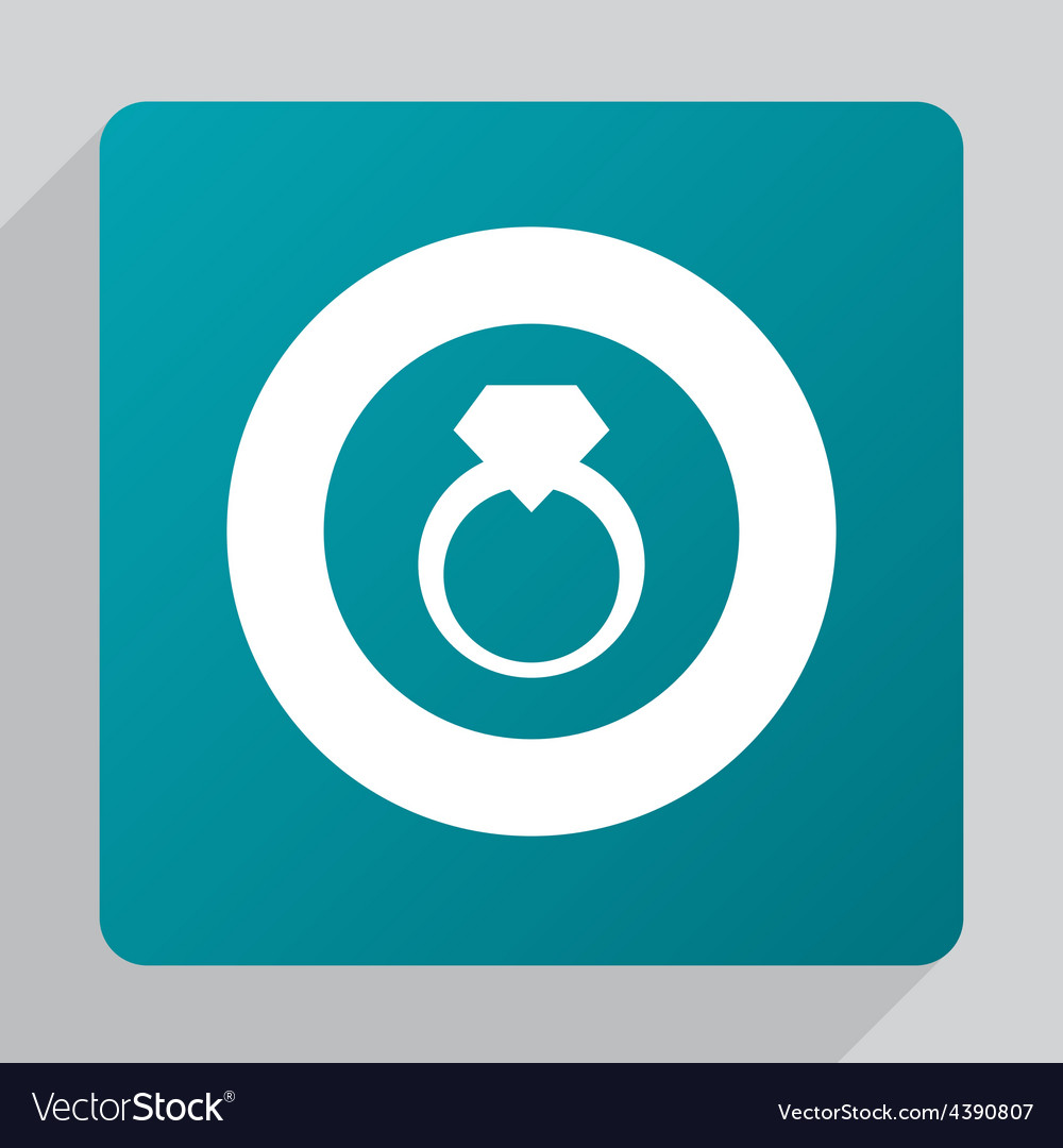 Flat jewelery ring icon vector | Price: 1 Credit (USD $1)