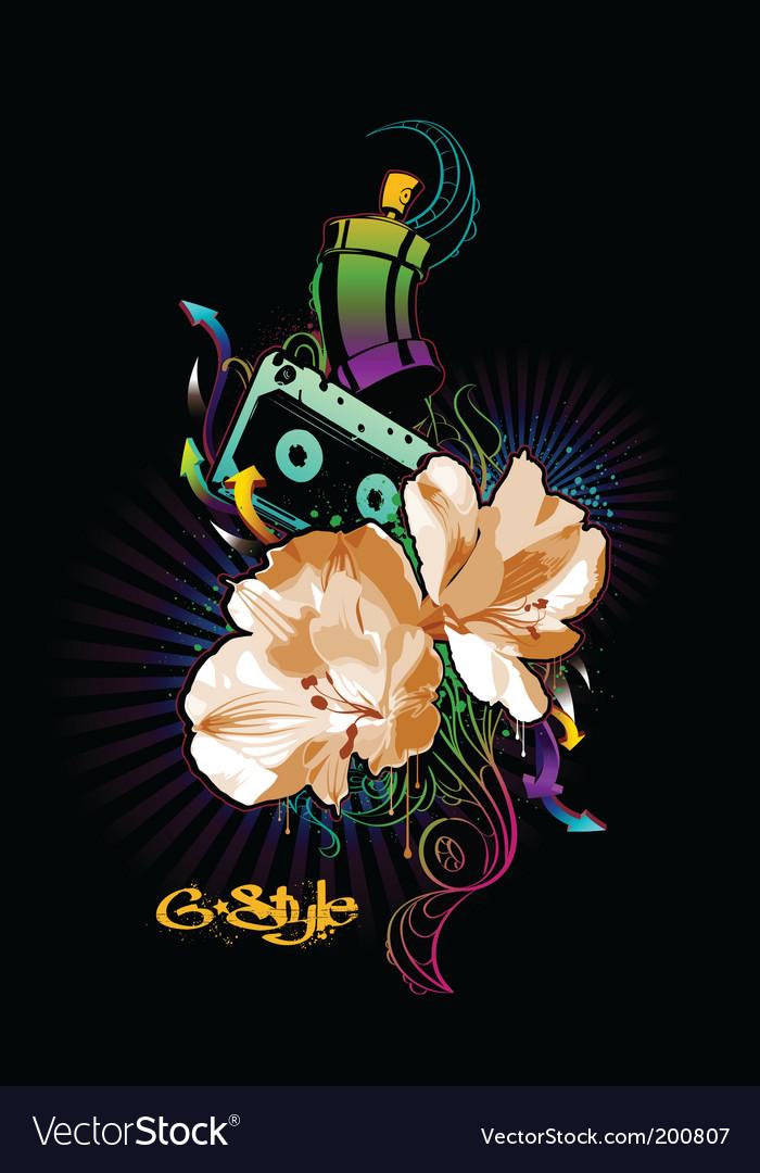 Graffiti image vector | Price: 1 Credit (USD $1)