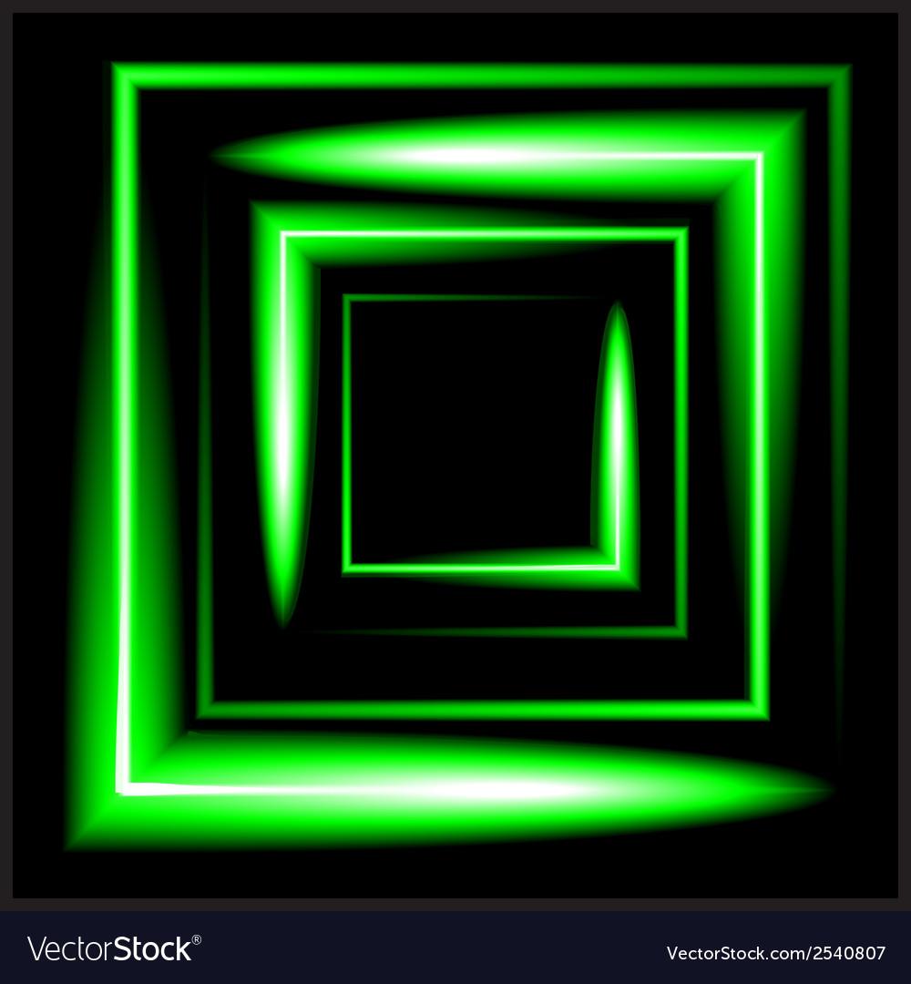 Green neon square background vector | Price: 1 Credit (USD $1)