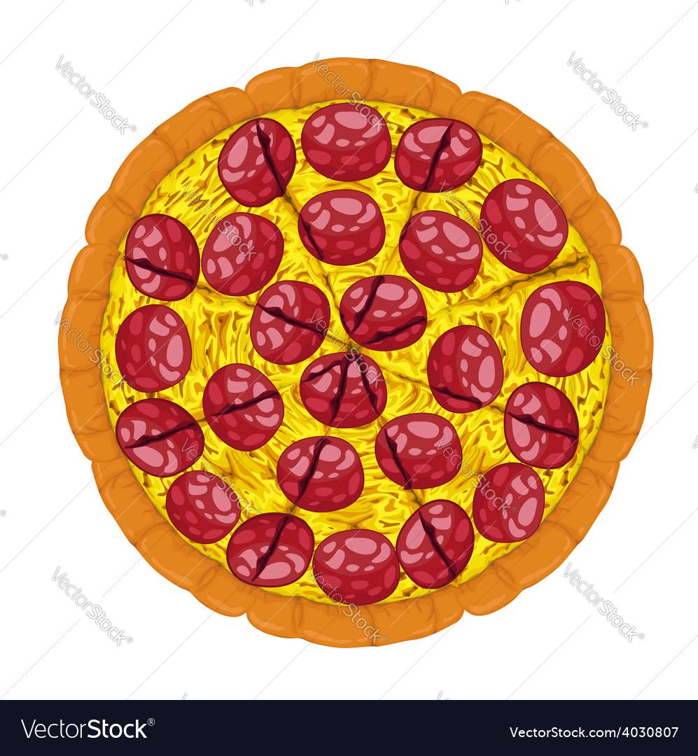 Pepperoni pizza slices vector | Price: 1 Credit (USD $1)