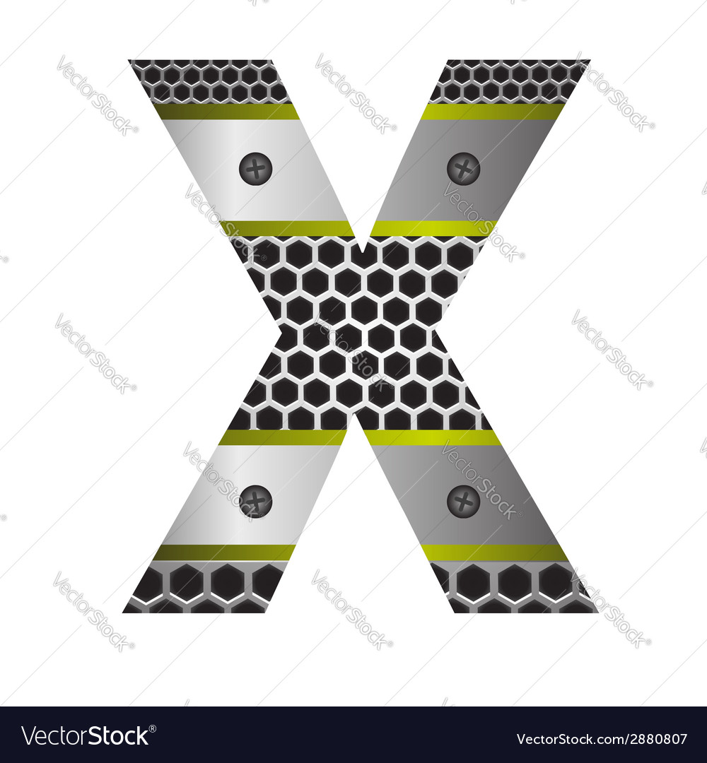 Perforated metal letter x vector | Price: 1 Credit (USD $1)