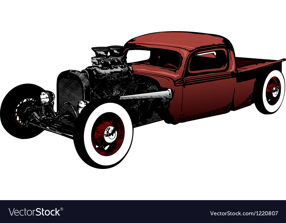Rat rod vector | Price: 1 Credit (USD $1)