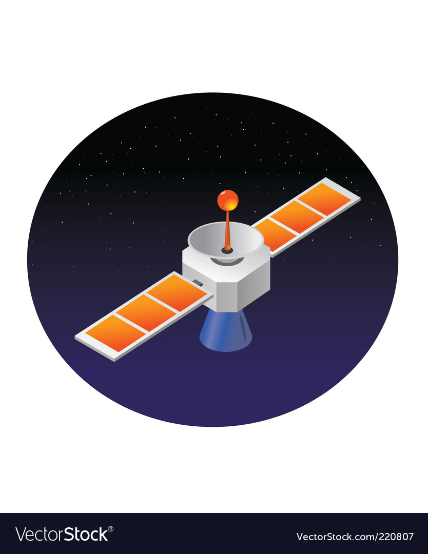 Satellite space vector | Price: 1 Credit (USD $1)