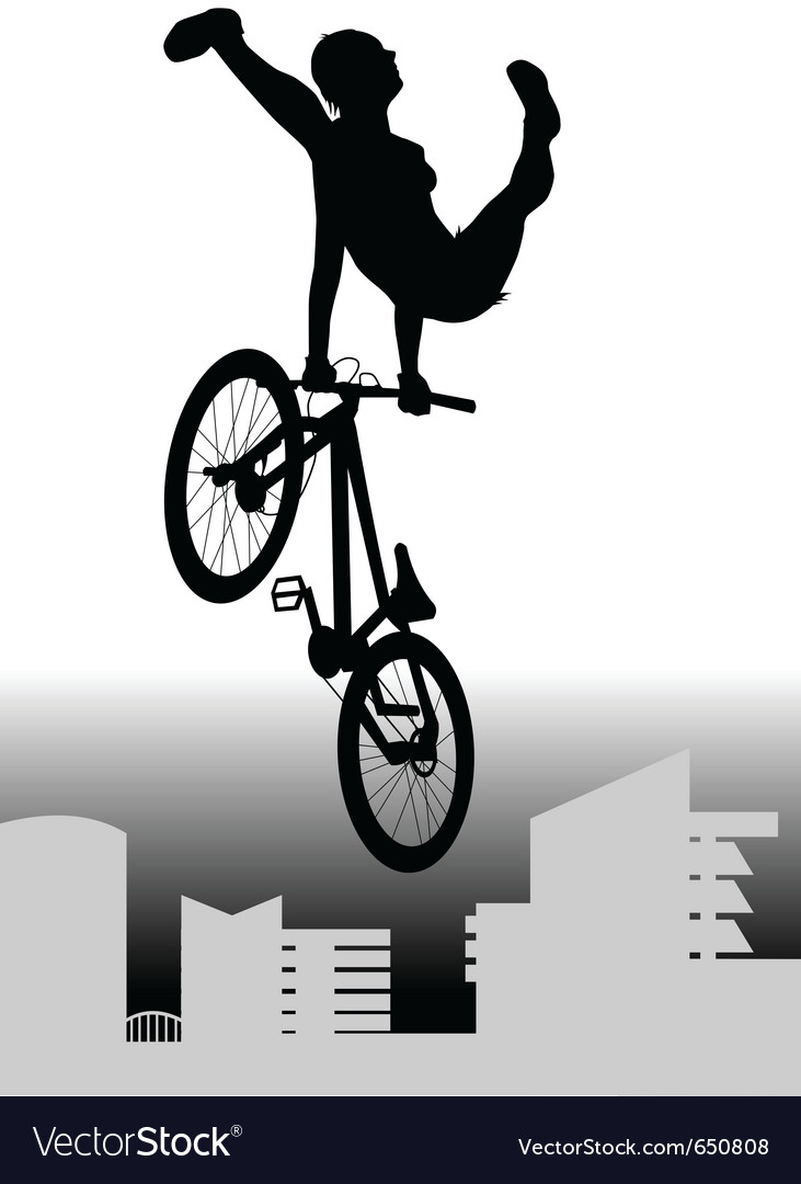 Bmx rider vector | Price: 1 Credit (USD $1)