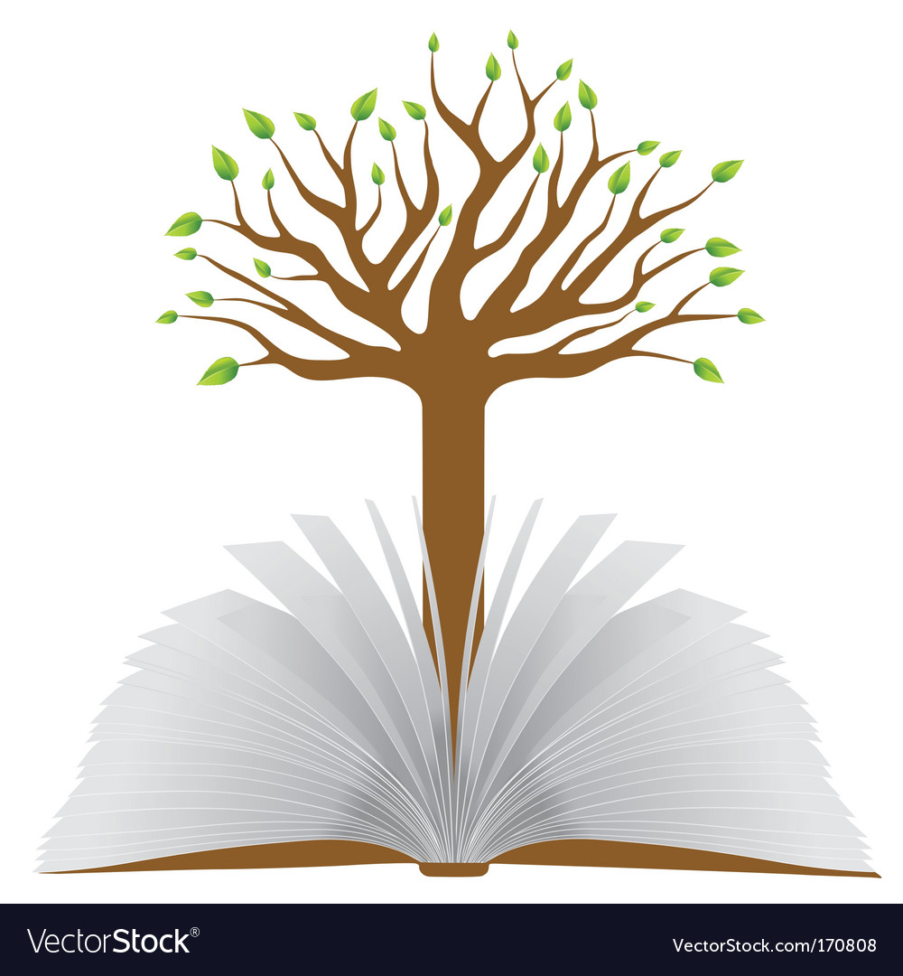 Book with tree vector | Price: 1 Credit (USD $1)