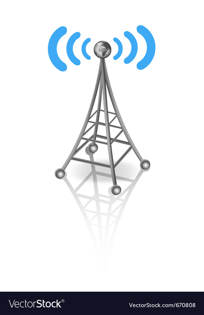 Communication antenna vector | Price: 1 Credit (USD $1)