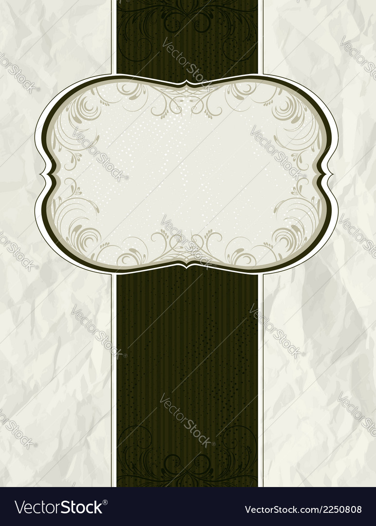 Crumple classical background vector | Price: 1 Credit (USD $1)