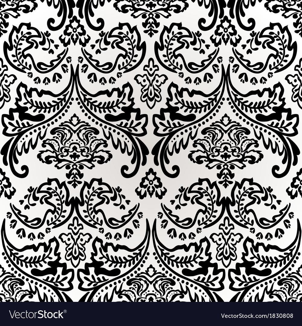Damask vintage floral seamless pattern background vector   Price: 1 Credit (USD $1)