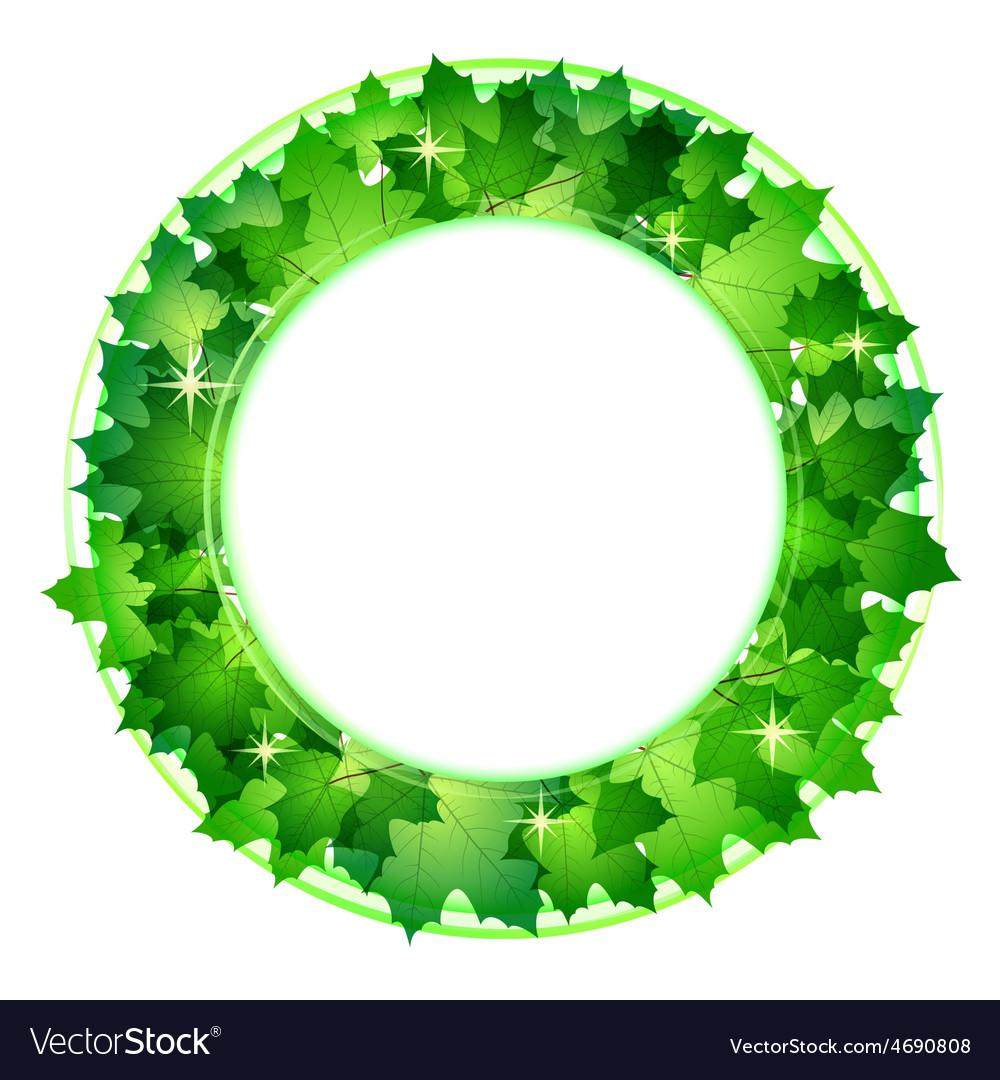 Fresh green leaves border vector | Price: 1 Credit (USD $1)