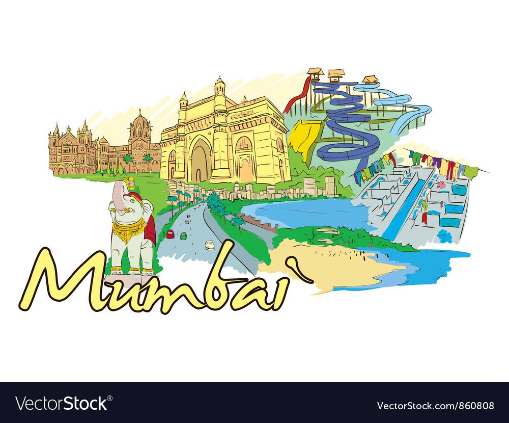 Mumbai doodles vector | Price: 3 Credit (USD $3)
