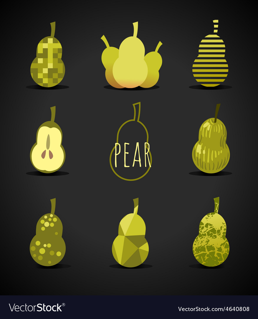 Pear sign vector | Price: 1 Credit (USD $1)