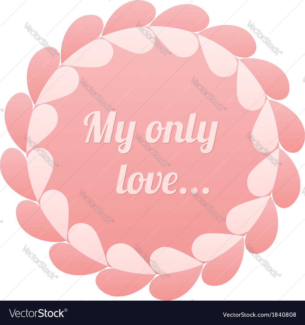 Pink realistic paper hearts circle frame vector | Price: 1 Credit (USD $1)