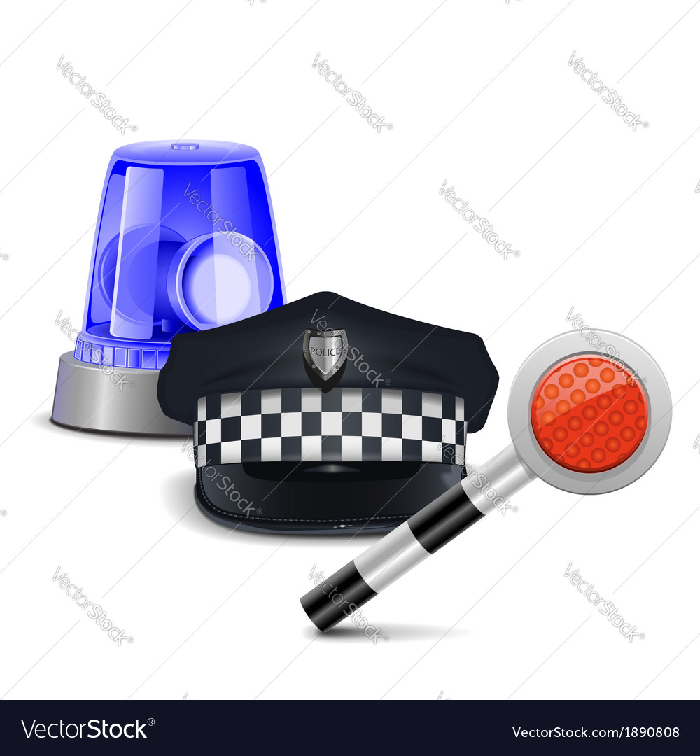 Police control concept vector | Price: 1 Credit (USD $1)