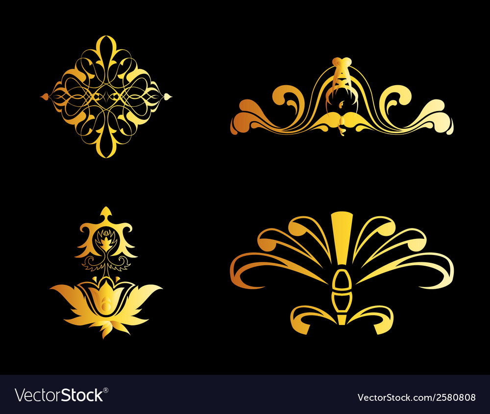 Set of ornate ornaments perfect vector | Price: 1 Credit (USD $1)