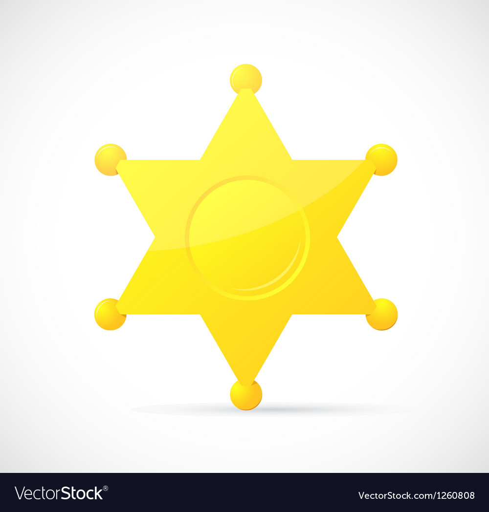 Sheriff star badge cartoon vector | Price: 1 Credit (USD $1)