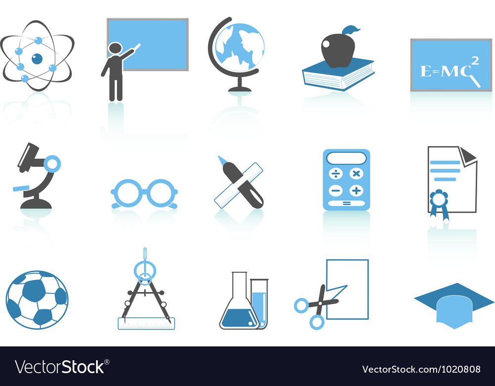 Simple education icon blue series vector | Price: 1 Credit (USD $1)