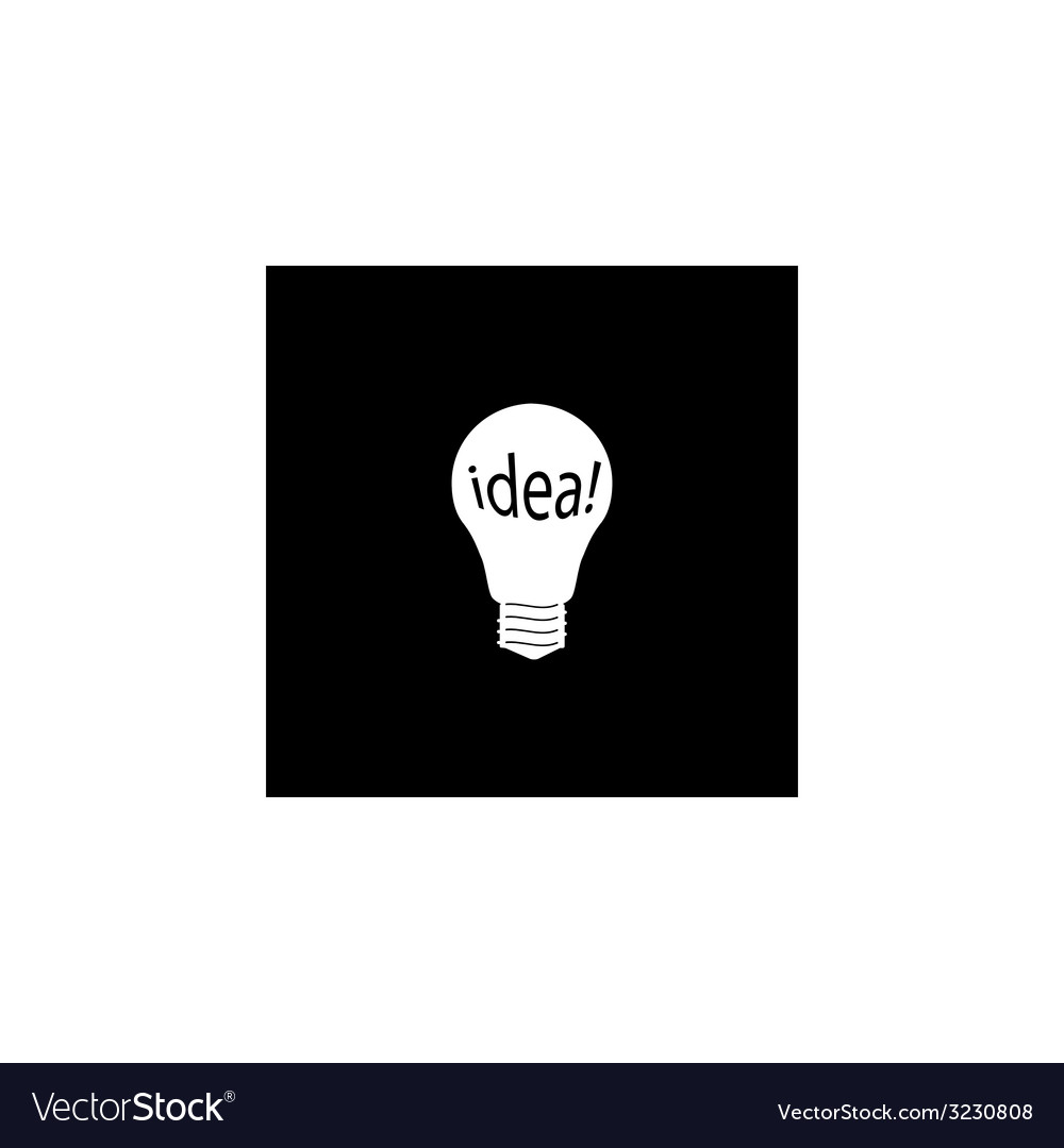 White bulb and idea icon vector | Price: 1 Credit (USD $1)