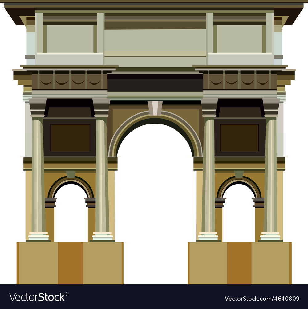 Arch architectural structure vector | Price: 3 Credit (USD $3)