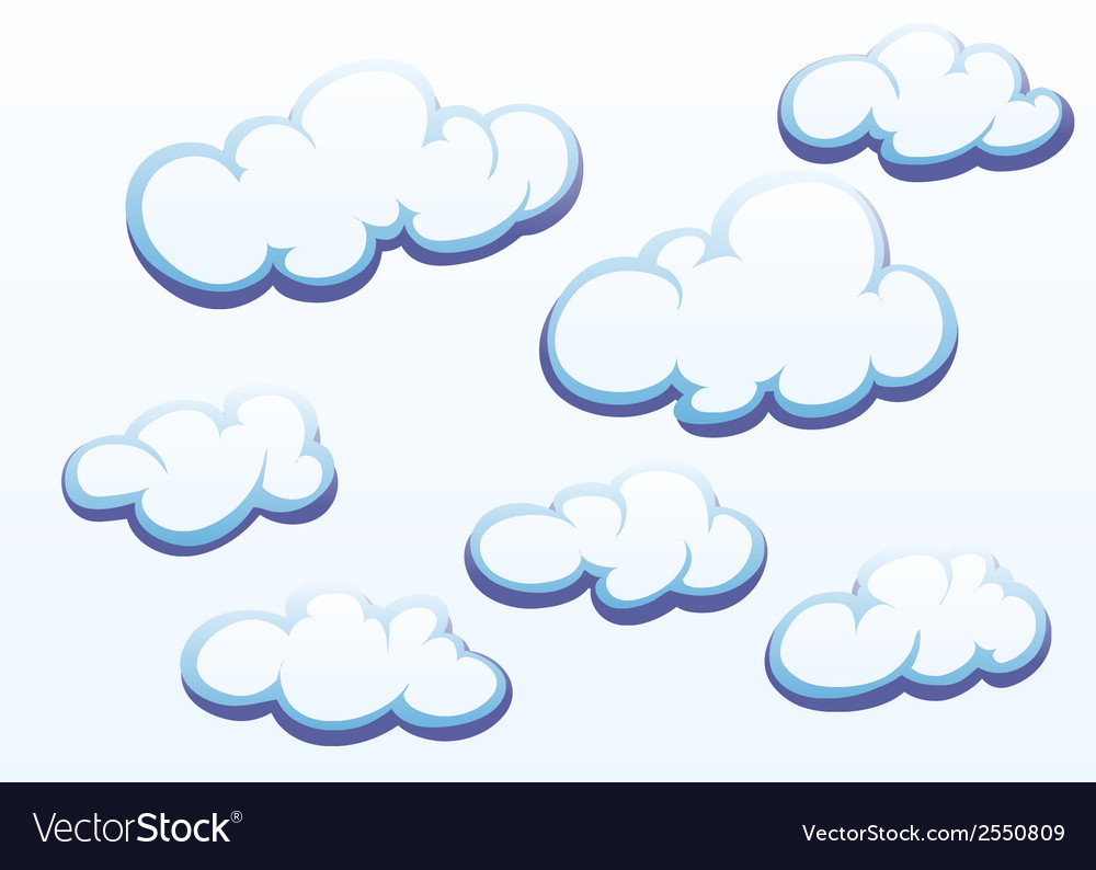 Clouds on white background vector | Price: 1 Credit (USD $1)