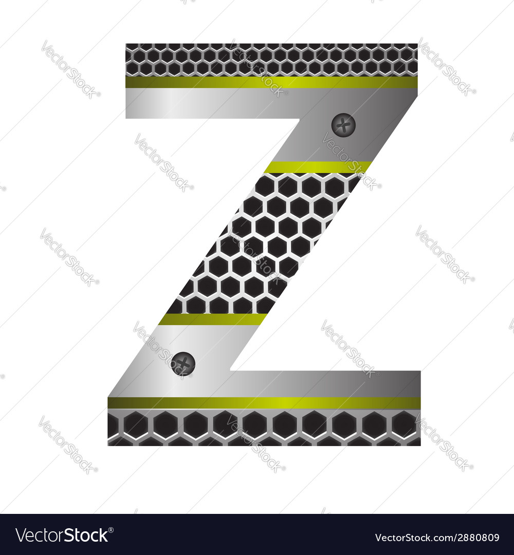 Perforated metal letter z vector | Price: 1 Credit (USD $1)