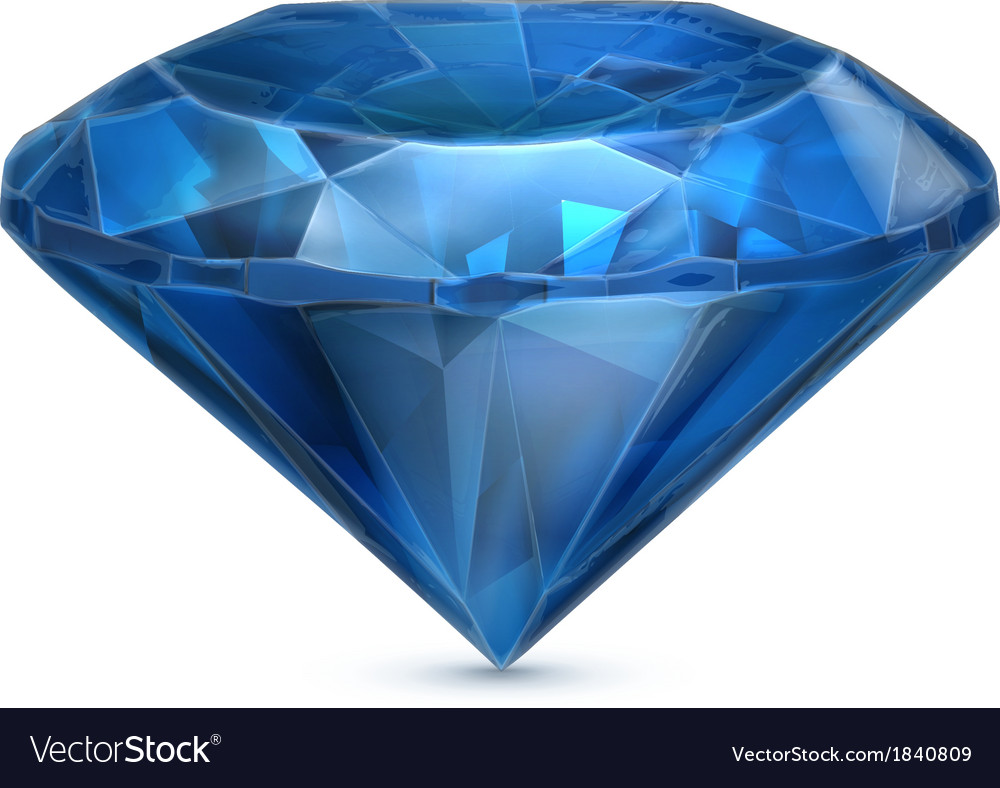 Sapphire blue icon vector | Price: 1 Credit (USD $1)