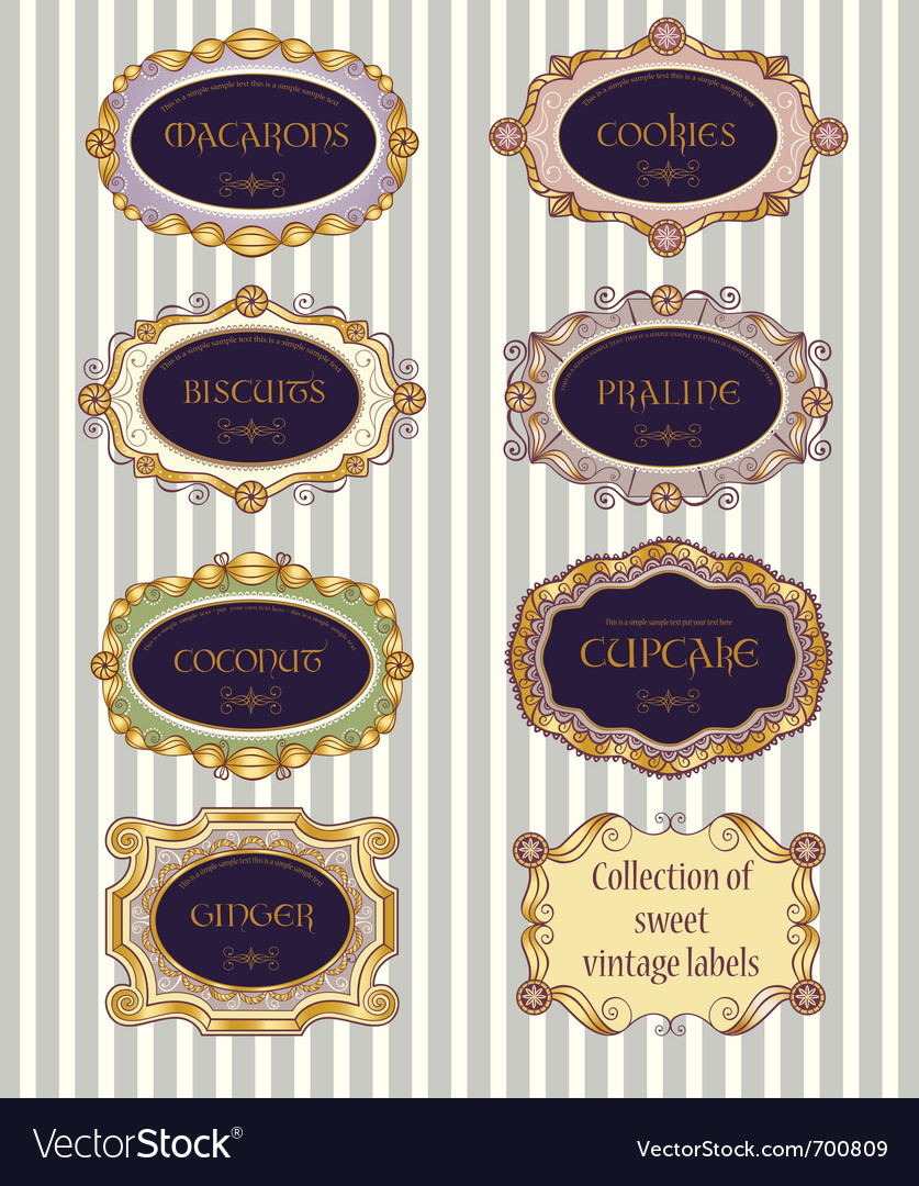 Selection of vintage labels vector | Price: 1 Credit (USD $1)