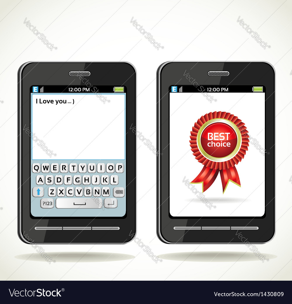 Smartphone with on screen keyboard vector | Price: 1 Credit (USD $1)