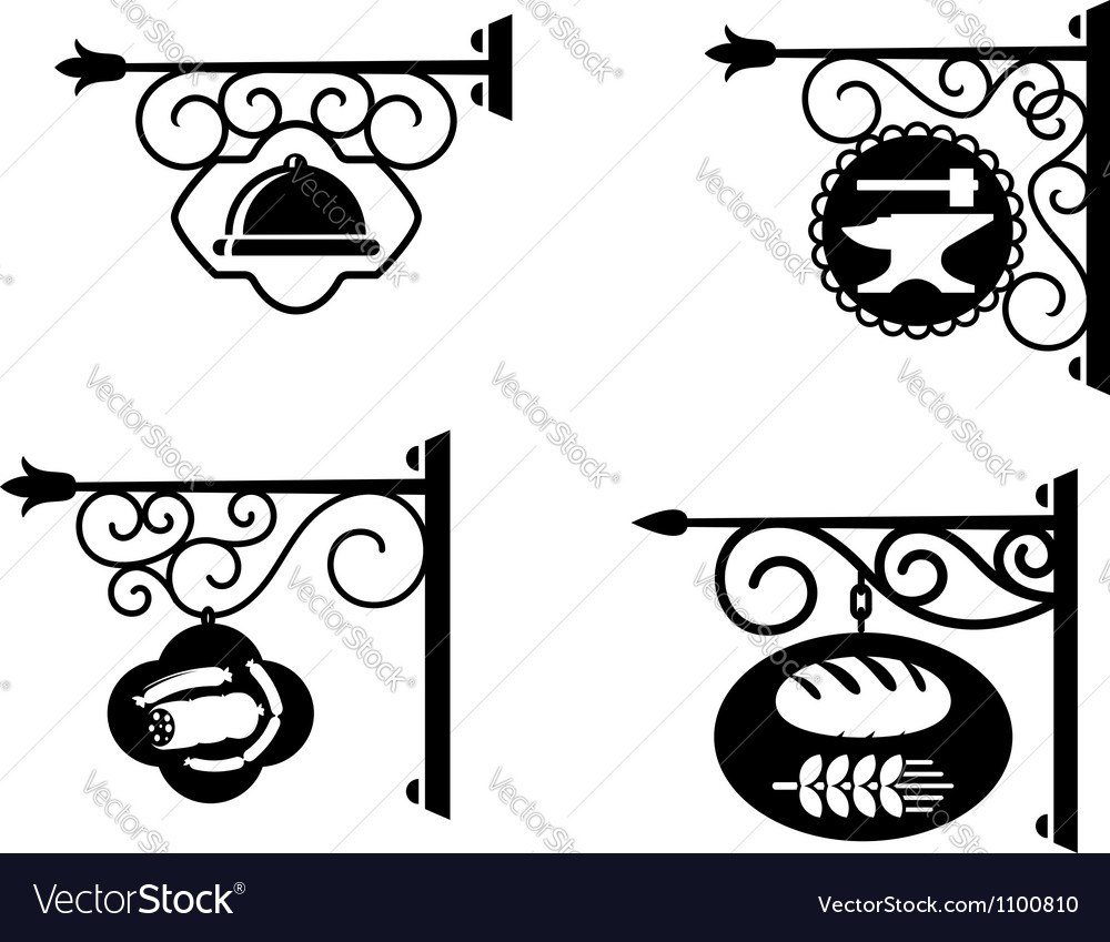 Advertising signboards vector | Price: 1 Credit (USD $1)