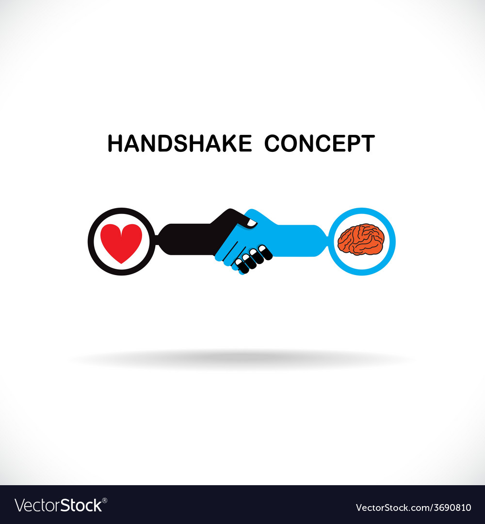 Business partners shaking hands vector | Price: 1 Credit (USD $1)