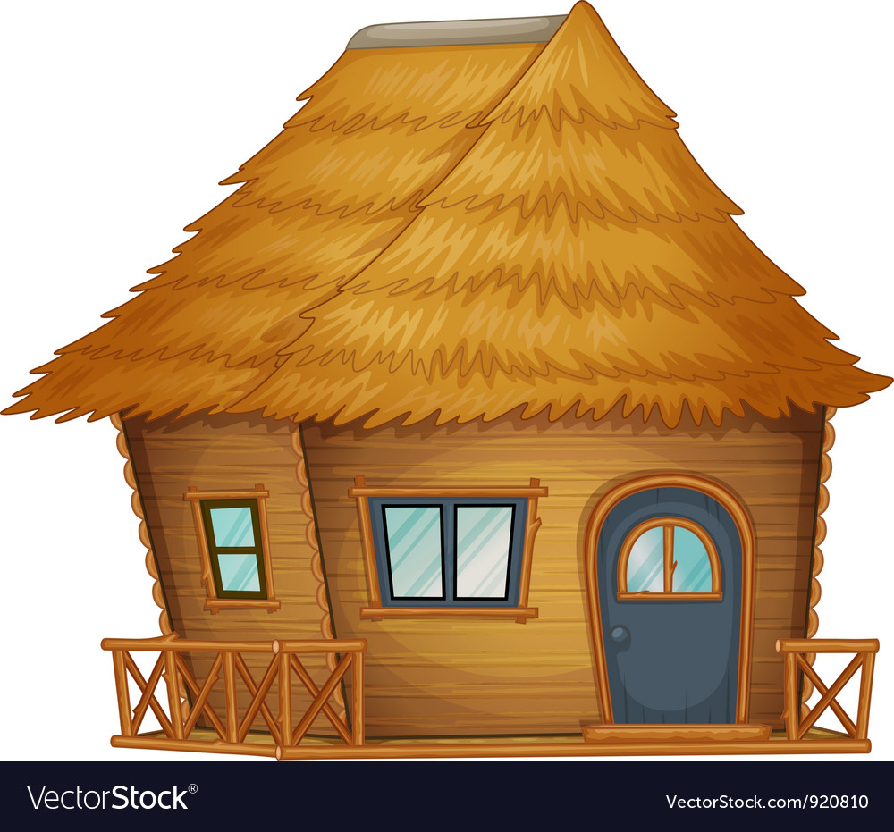 Hut or cabin on a white background vector | Price: 1 Credit (USD $1)