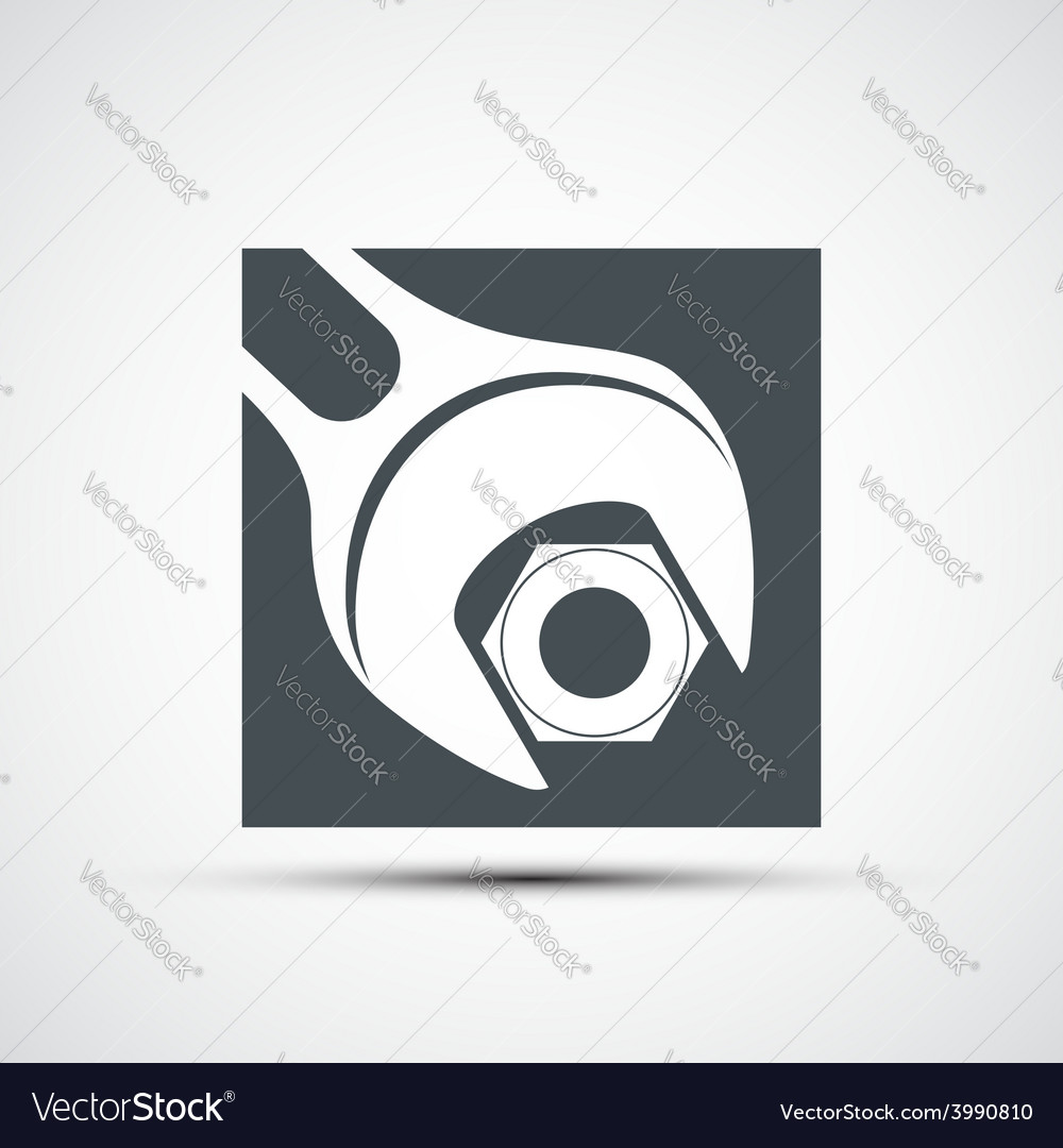 Icon wrench to tighten the screws vector | Price: 1 Credit (USD $1)