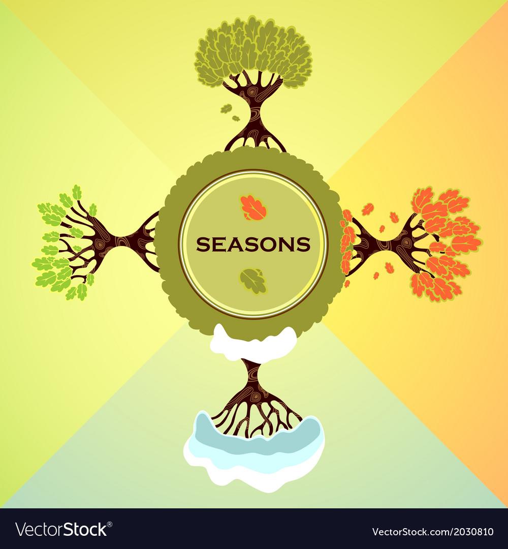 Seasons vector | Price: 1 Credit (USD $1)