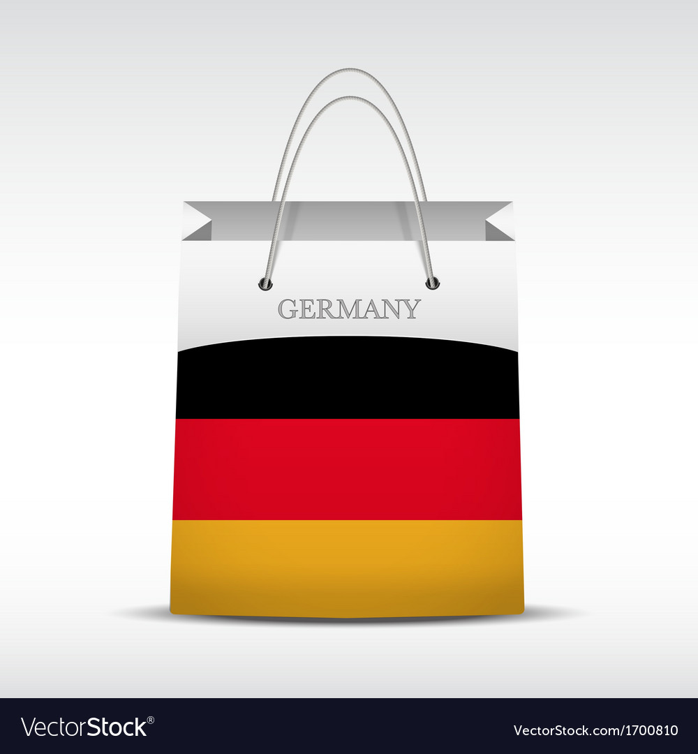 Shopping bag with germany flag vector | Price: 1 Credit (USD $1)