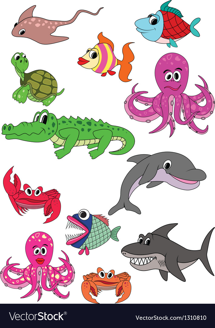 Underwater animals vector | Price: 1 Credit (USD $1)