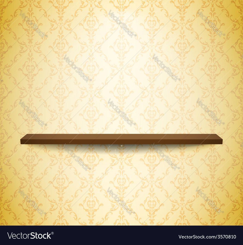 Wooden shelf on the wall vector | Price: 1 Credit (USD $1)