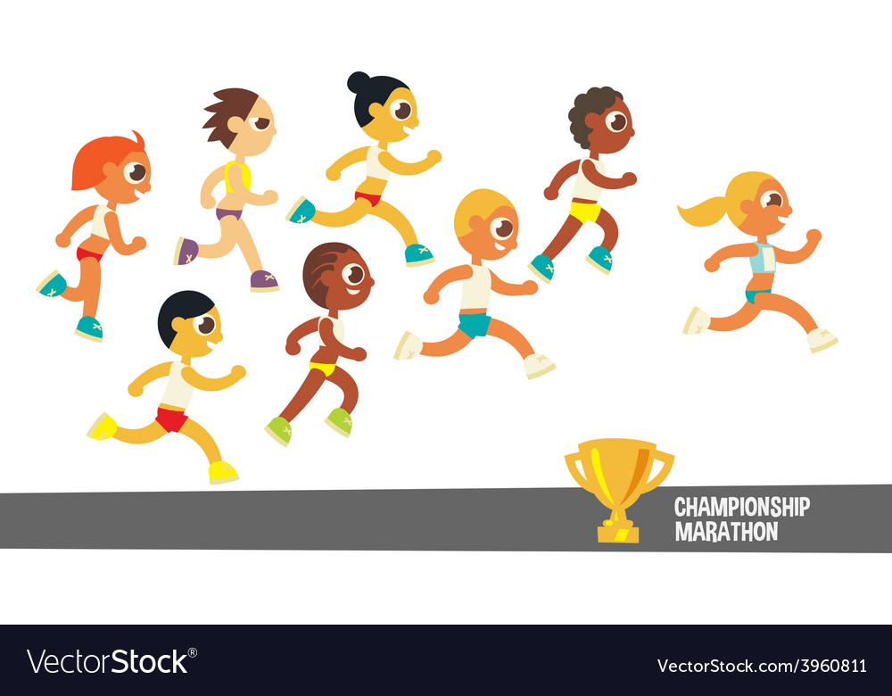 Champion runners vector | Price: 1 Credit (USD $1)