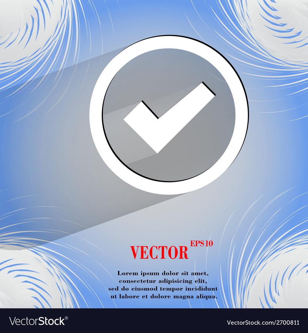 Check mark flat modern web design on a flat vector   Price: 1 Credit (USD $1)