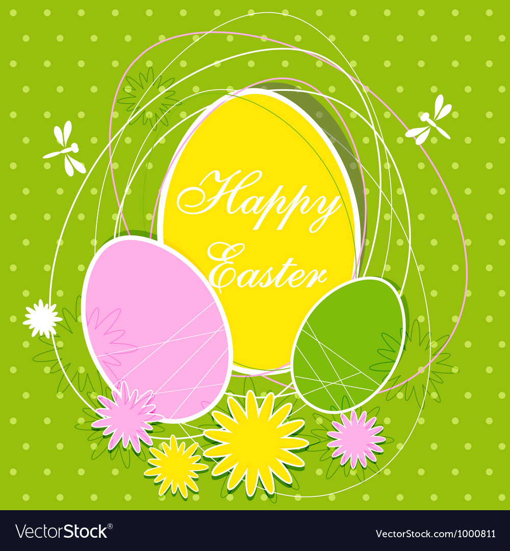 Easter card vector | Price: 1 Credit (USD $1)